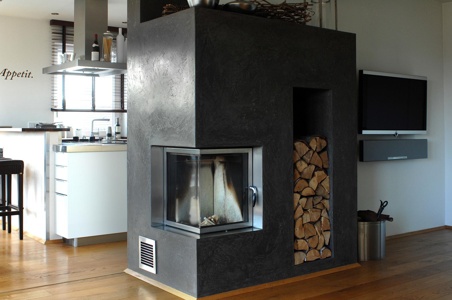 steinoptik kamin ideen fr kamin und fernseher an einer wand wohnzimmer ideen deko ideen design. Black Bedroom Furniture Sets. Home Design Ideas